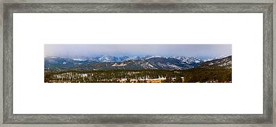 Colorado Rocky Mountain National Park Panorama Winter View Framed Print