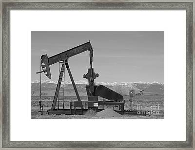 Colorado Rocky Mountain Oil Wells Bw Framed Print by James BO  Insogna