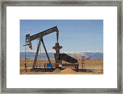 Colorado Rocky Mountain Oil Wells Framed Print by James BO  Insogna