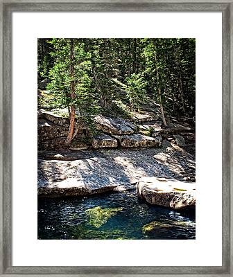 Colorado Rocky Mountain River Woodland Pine Forest Framed Print by Julie Magers Soulen