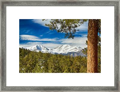 Colorado Rocky Mountain View Framed Print