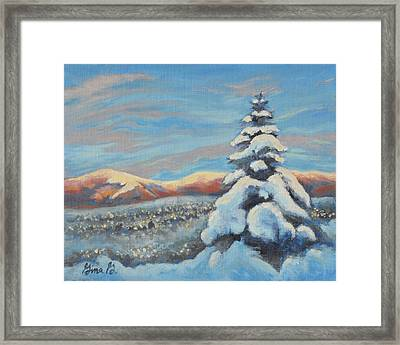 Colorado Snow Glow Framed Print