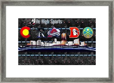 Colorado Sports Framed Print by Becca Buecher