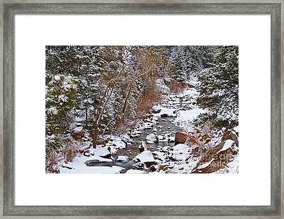 Colorado St Vrian Winter Scenic Landscape View Framed Print by James BO  Insogna