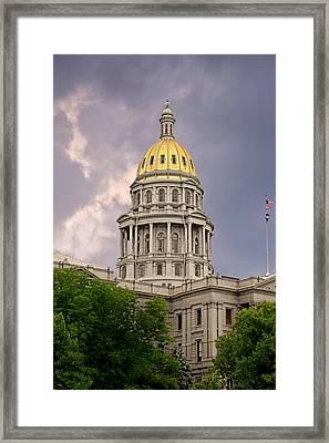 Colorado State Capitol Building Denver Co Framed Print by Christine Till