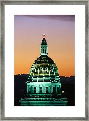 Colorado State Capitol Building Denver Framed Print