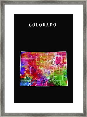 Colorado State Framed Print by Daniel Hagerman
