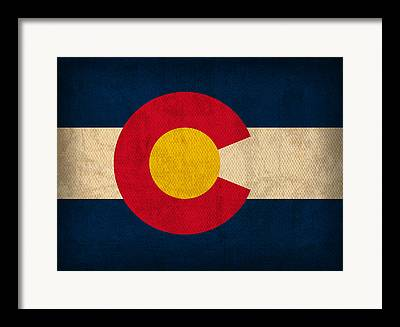 Colorado Flag Framed Prints