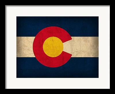 Colorado State Flag Framed Prints