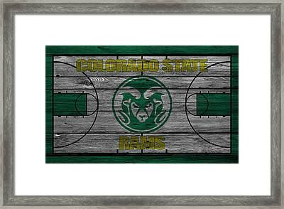 Colorado State Rams Framed Print by Joe Hamilton