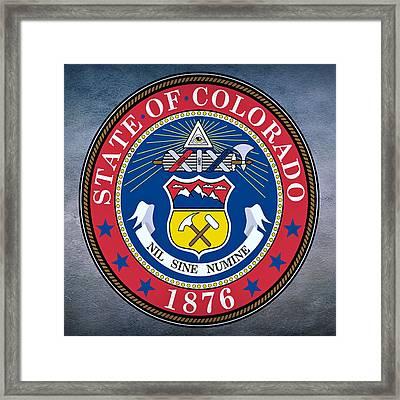 Colorado State Seal Framed Print by Movie Poster Prints