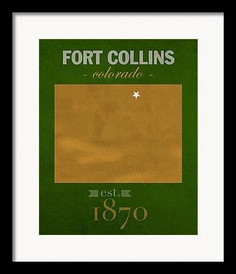 Fort Collins Mixed Media Framed Prints