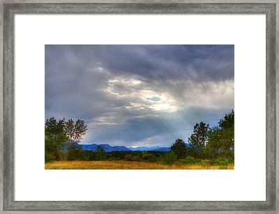 Colorado Sunbeams Framed Print