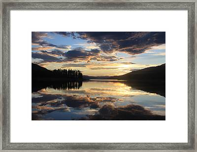 Framed Print featuring the photograph Colorado Sunset by Chris Thomas