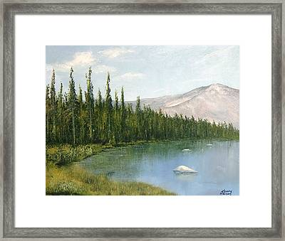 Colorado View Framed Print by Kenny Henson
