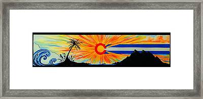 Colorado Wherever You Are Its Always Home Framed Print by Randy Segura