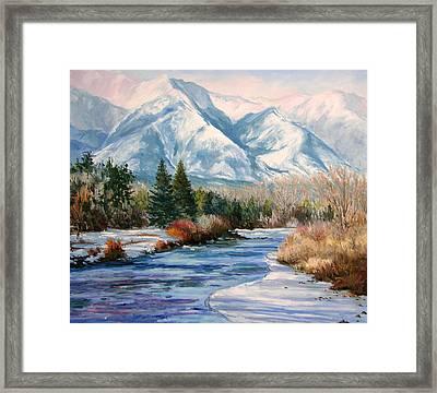 Colorado Winter On The Arkansas River Framed Print by Frederick Hubicki