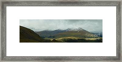 Colorado's Front Range Panorama Framed Print by Benjamin Reed