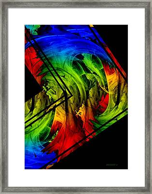 Colored Abstract Art Framed Print by Mario Perez