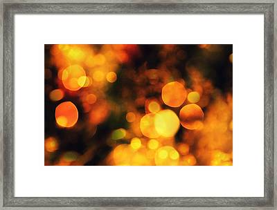 Framed Print featuring the digital art Coloured Bokeh Lights by Fine Art By Andrew David