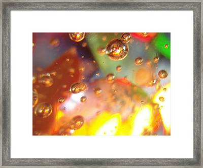 Colored Bubbles And Glass Framed Print
