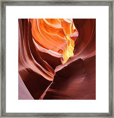 Colored By Light - Lower Antelope Canyon Arizona Framed Print by Clay and Gill Ross