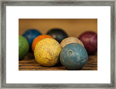 Colored Clay Marbles Framed Print