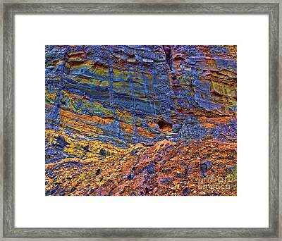 Colored Cliffs  Framed Print