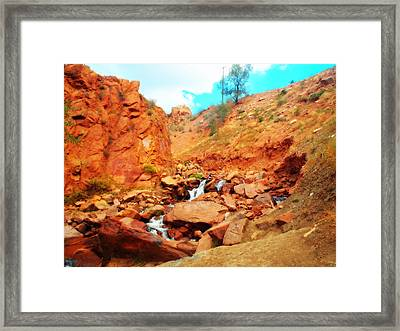Colored Falls Framed Print