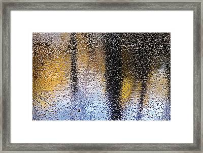 Colored Ice Framed Print