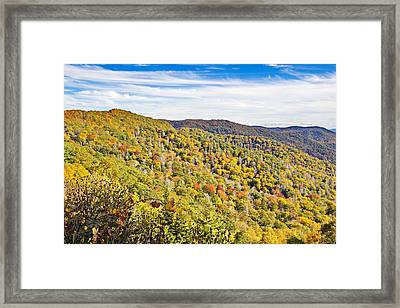 Colored In Smoky Mountains Framed Print
