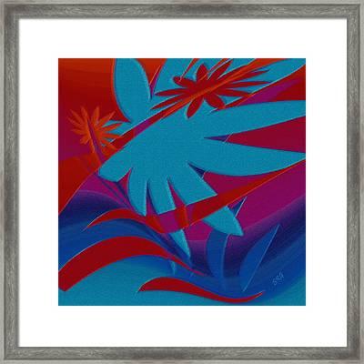 Colored Jungle Framed Print by Ben and Raisa Gertsberg