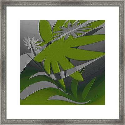 Colored Jungle Green Framed Print by Ben and Raisa Gertsberg