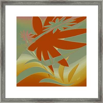 Colored Jungle Orange Splash Framed Print by Ben and Raisa Gertsberg