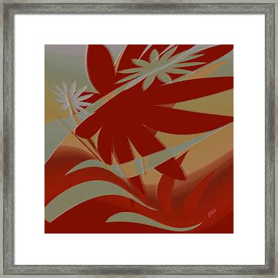 Colored Jungle Red Framed Print by Ben and Raisa Gertsberg