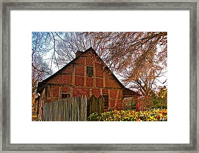 Framed Print featuring the photograph Colored Late Fall by Geri Glavis
