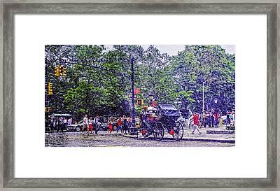 Colored Memories - Central Park Framed Print by Madeline Ellis