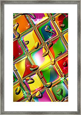 Colored Mirror By Nico Bielow Framed Print