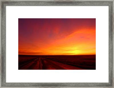 Framed Print featuring the photograph Colored Morning by Lynn Hopwood