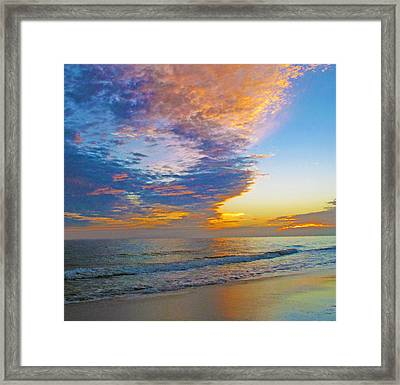 Colored Ocean Framed Print