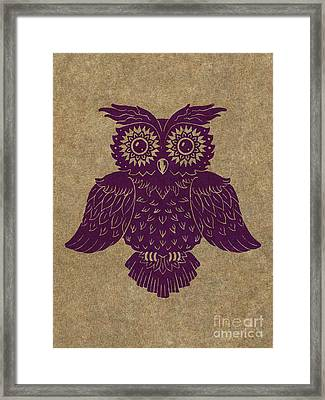 Colored Owl 1 Of 4  Framed Print by Kyle Wood