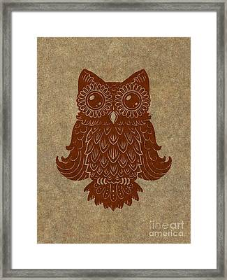 Colored Owl 2 Of 4  Framed Print by Kyle Wood