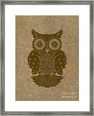 Colored Owl 3 Of 4  Framed Print by Kyle Wood