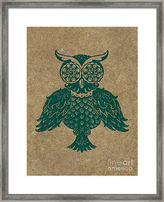 Colored Owl 4 Of 4  Framed Print by Kyle Wood