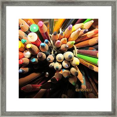 Colored Pencils Framed Print by Jaime Neo