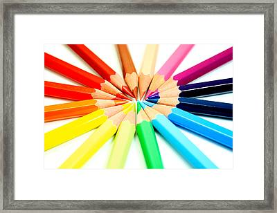 Colored Pencils Framed Print by Michael Tompsett