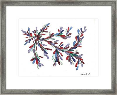 Colored Raindrops Framed Print by Laura Briganti
