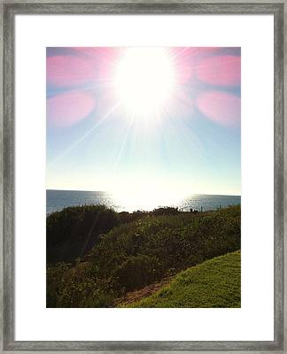 Colored Rays Of The Sun Framed Print