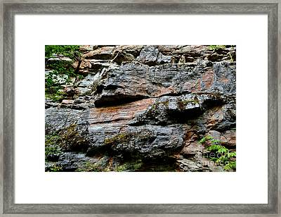 Colored Rock Face Framed Print by Phil Dionne