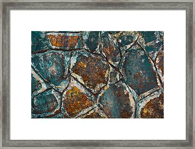 Colored Rock Wall Framed Print